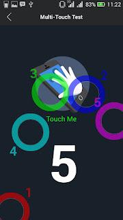 Pengetesan jumlah sensor multitouch dengan AnTuTu Benchmark