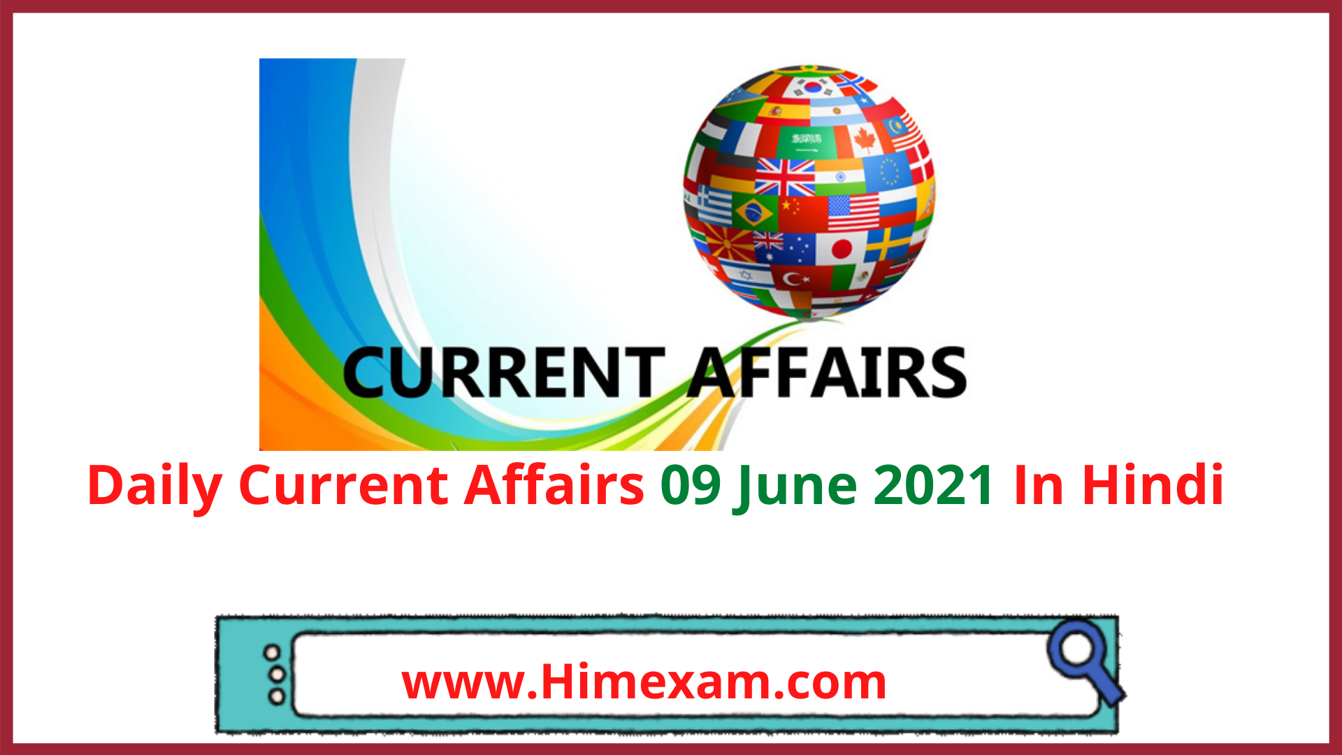 Daily Current Affairs 09 June 2021 In Hindi