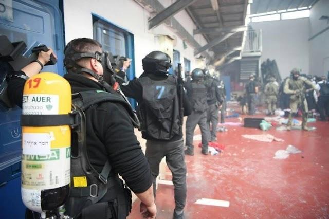 هيئة الأسرى: قوات الاحتلال تقتحم قسم /4/ في سجن جلبوع