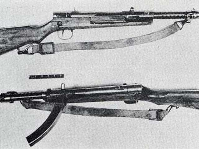 Japanese Type 100 submachine gun with muzzle brake worldwartwo.filminspector.com