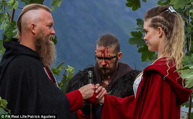 Epic Pictures Of The First Traditional Viking Wedding After About 1000 Years