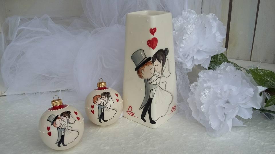 Preferenza ceramica come mestiere: Bomboniere per matrimonio. Vaso e pallina  JR57