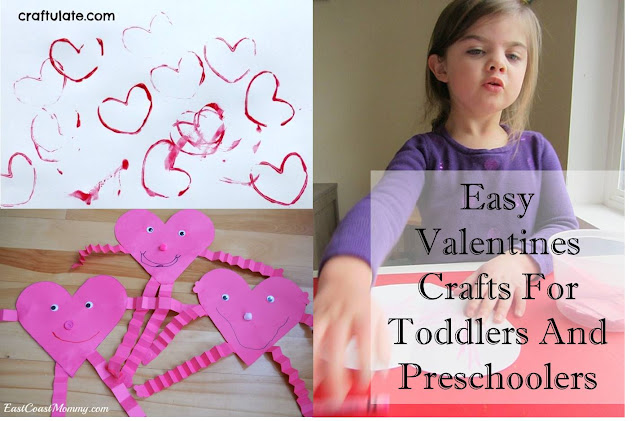 Easy Valentines Crafts For Toddlers And Preschoolers