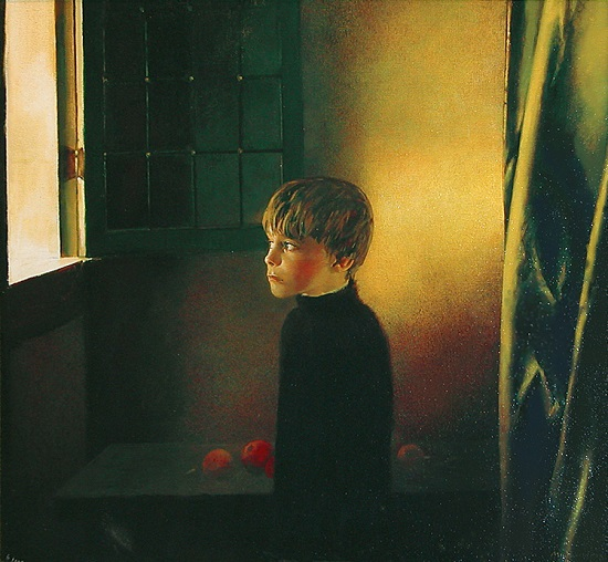 "arte contemporáneo, pintura, ""Vermeer's Window"" by Igor Melnikov, 2004."
