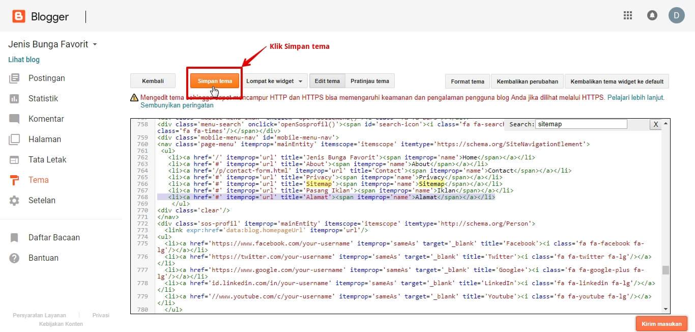 Cara Mengganti Kode Template Blog