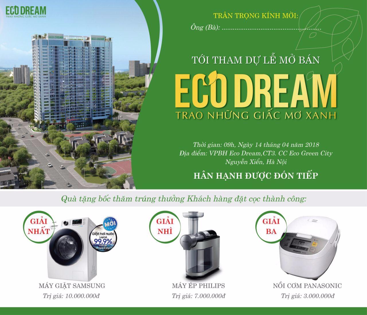 Thư mời tham dự chương trình mở bán Eco Dream