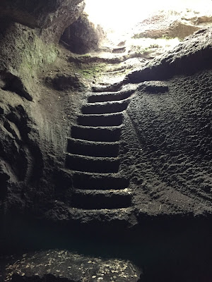 Steps in the Grotta dei Ladroni