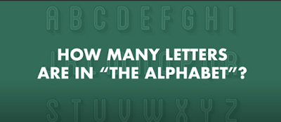 "Figure: How many letters are in ""The Alphabet""?"