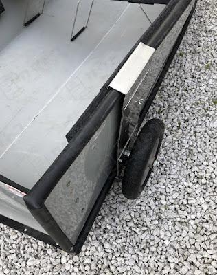 ポータボートのドーリーをアルミ平板で自作