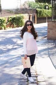 conjunto de tejanos rosa palo jeans