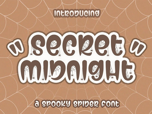 Secret Midnight - Spooky Font
