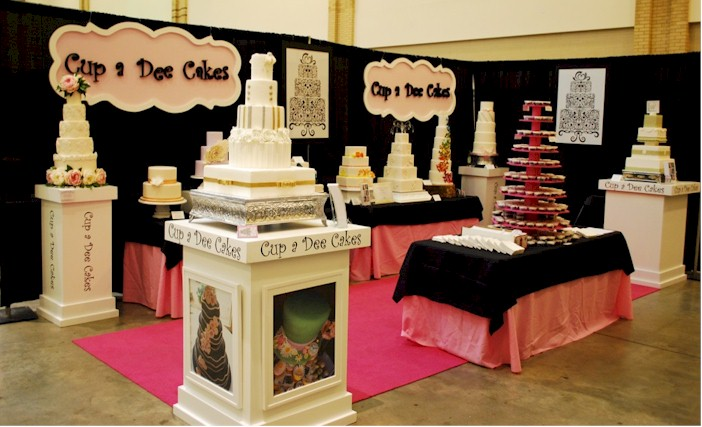 wedding cake expo ideas cup a cakes bridal show booths for beginners 22575