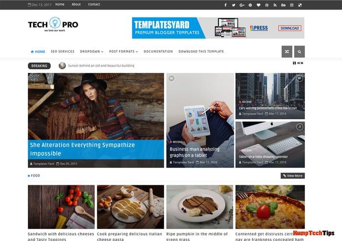 Tech Pro News Responsive Magazine Blogger Template