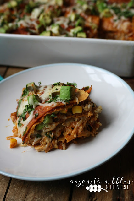 Slice of Layered Chicken Enchilada Casserole from Anyonita-Nibbles