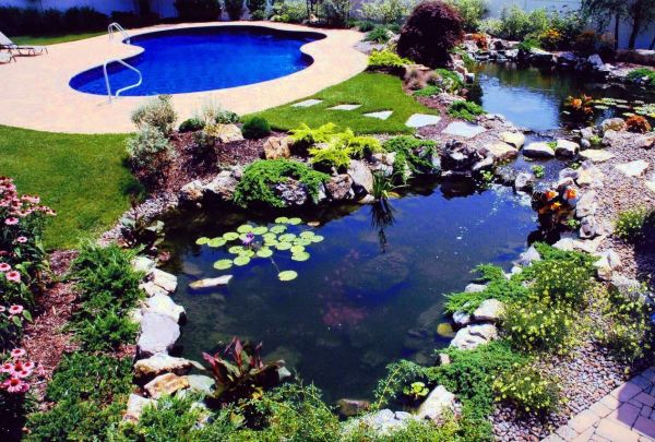 Home Outdoor Ideas Adding A Fish Pond For Your Backyard Garden