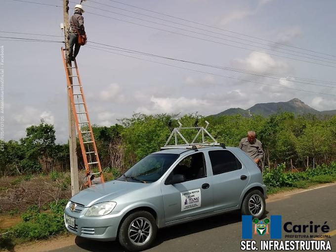 Prefeitura de Cariré realiza manutenção nas redes de energia elétrica do Município