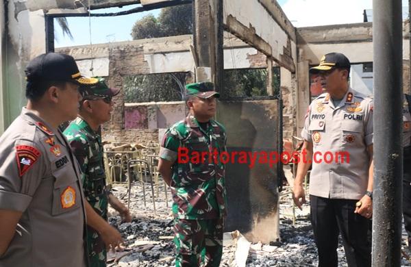 Akibat Kerusuhan, Bangunan Yang Rusak Akan Segera Diperbaiki Kembali Oleh TNI