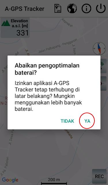 Pilih Ya Agar Aplikasi Tetap Berjalan Saat HP Kita Standby