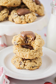 These chocolate peanut butter oatmeal cookies have the most delicious combination of flavors and textures!