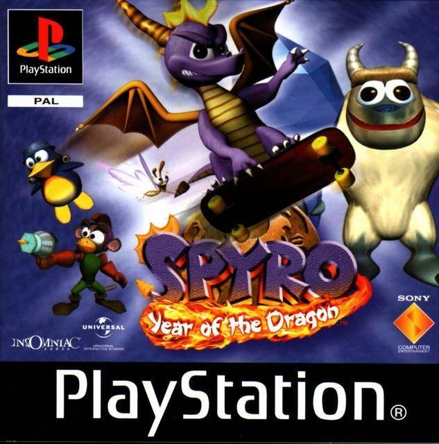 Spyro: El año del dragón - PSX - Portada