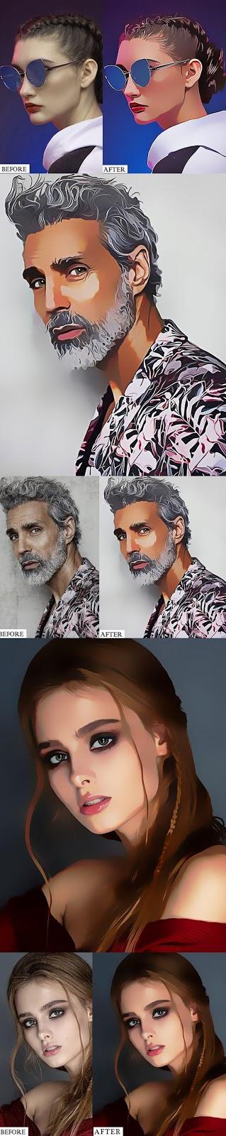Magazine Art   Cartoon Painting Photoshop Action 26525951
