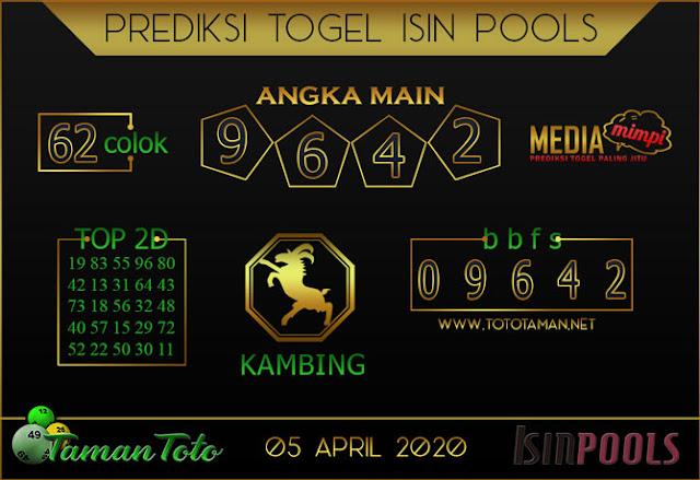 Prediksi Togel ISIN TAMAN TOTO 05 APRIL 2020