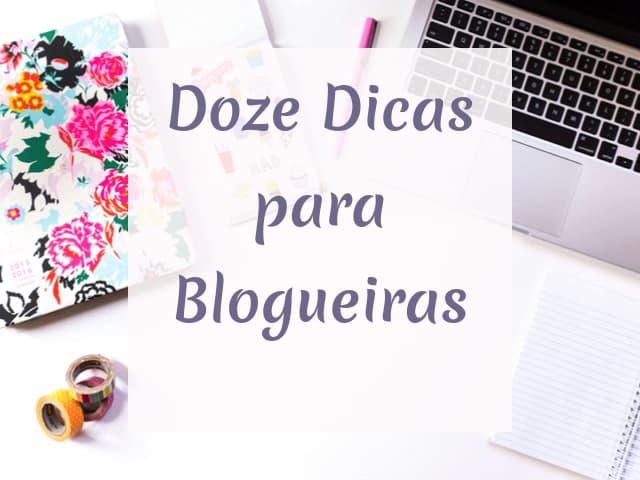 doze dicas para blogueiras