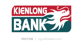 Logo ngân hàng KIENLONG BANK vector