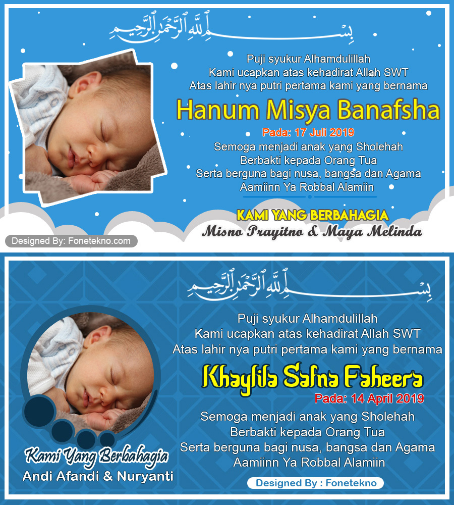 Download Gratis Desain Kartu Nama Kelahiran Bayi Untuk ...