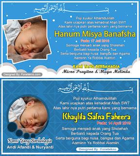 Download Gratis  Desain Karu Nama Bayi Untuk Kenduri