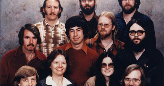 Iconic staff portrait from Microsoft's early days, Albuquerque, December 7, 1978