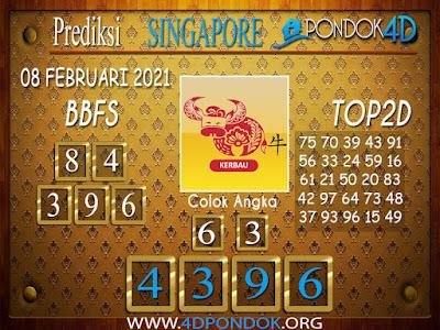 Prediksi Togel SINGAPORE PONDOK4D 08 FEBRUARI 2021