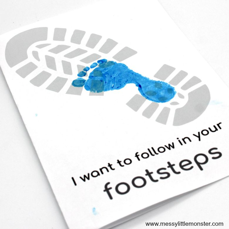 Follow in your Footsteps Father's Day Card