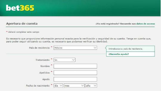 primer paso formulario registro