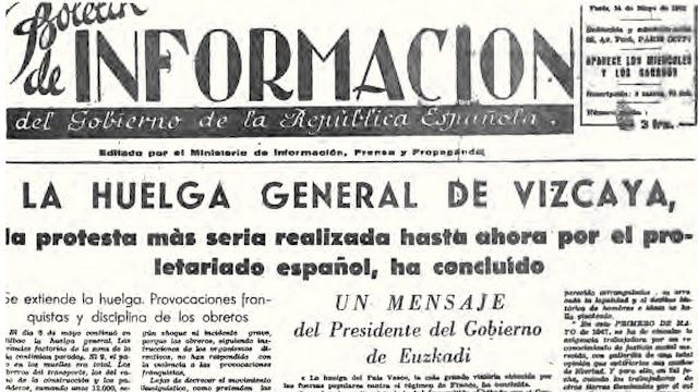 Periódico del Gobierno de la República, durante la dictadura franquista