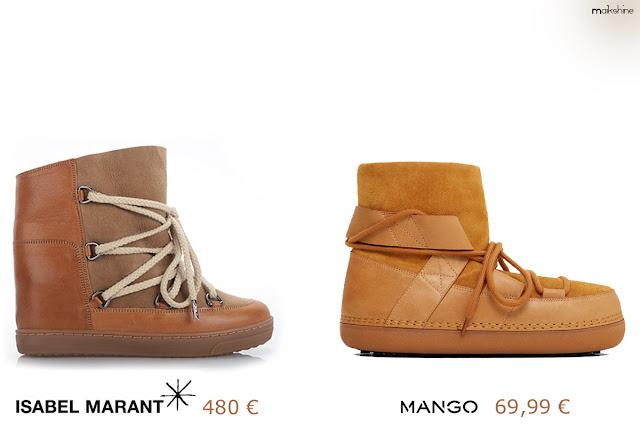 Clones de moda - Isabel Marant snow boots