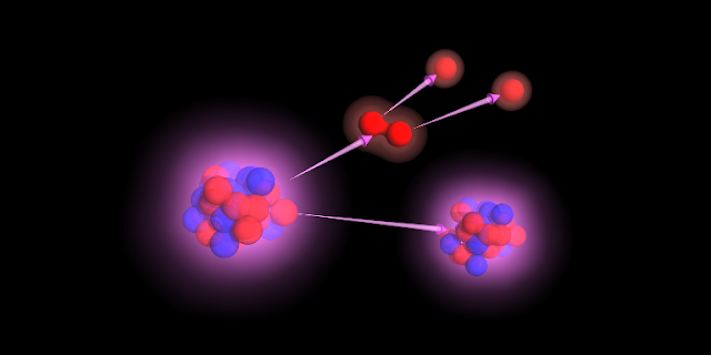 Artist's impression of exotic nuclei. Credit: cenbg.in2p3.fr