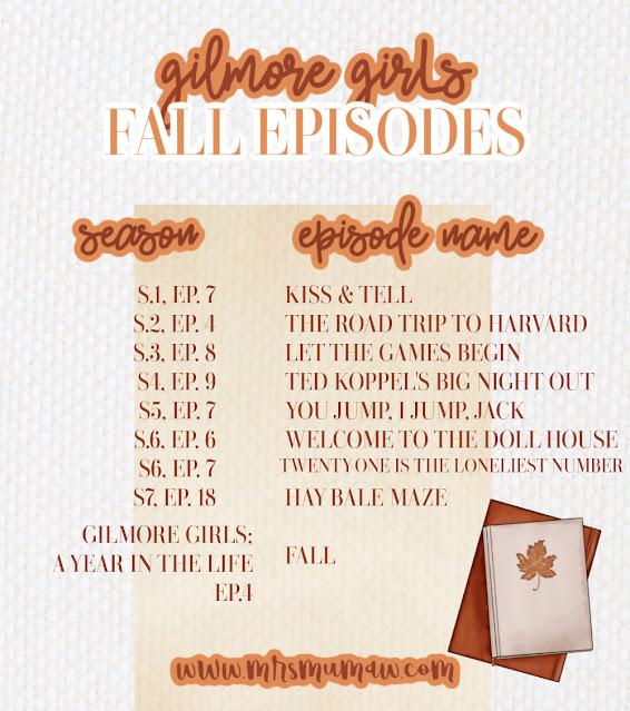 Gilmore girls fall episodes