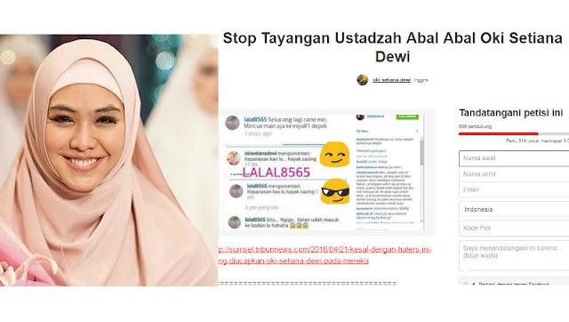 Heboh ! Ustadzah Oki Dipetisi Netizen? Ada Apa?
