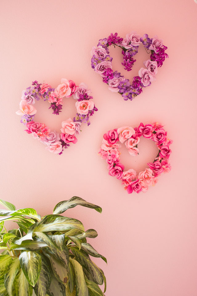 Valentine S Day Decor Diy Floral Hearts Design Improvised