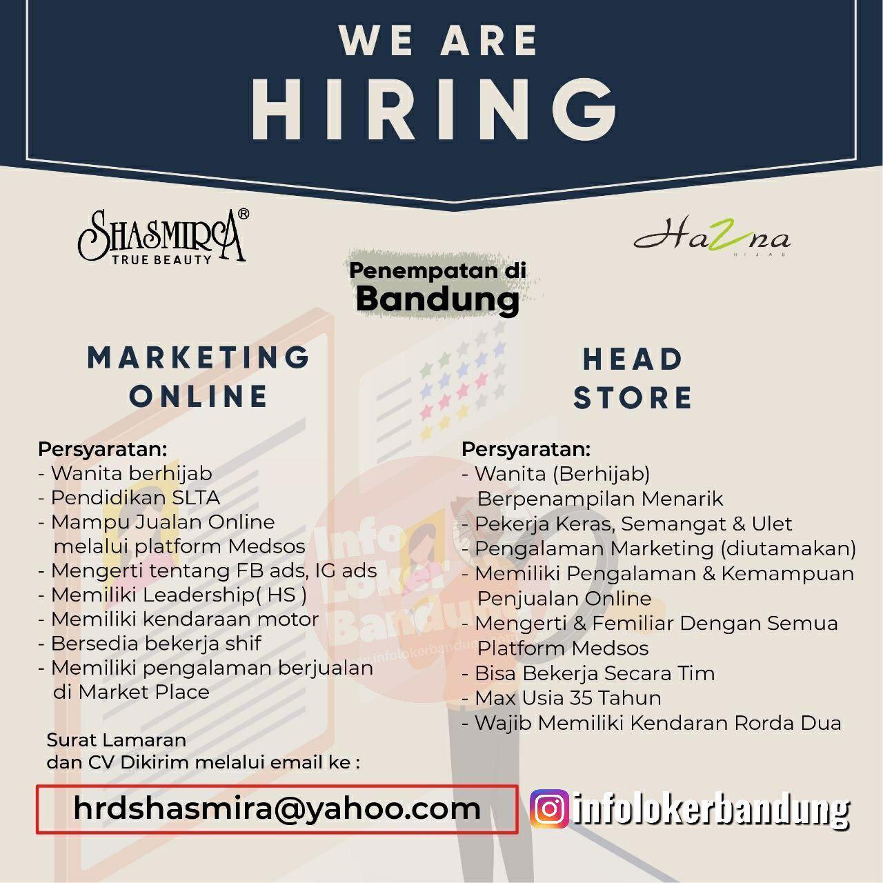 Lowongan Kerja Shasmira True & Beauty Bandung Agustus 2019