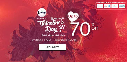 Up to 70% Discount on Daraz Valentine's Day offer In Bangladesh 2018 | www daraz com bd