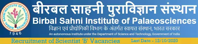 Birbal Sahni Institute Scientist-B Recruitment 2020