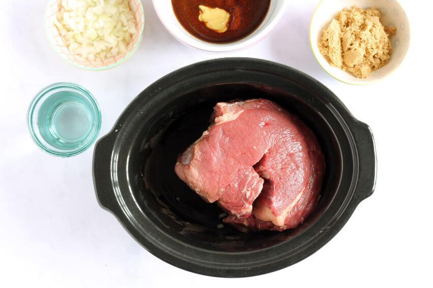 Beef brisket in slow cooker