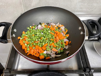roasting some mixed veggies