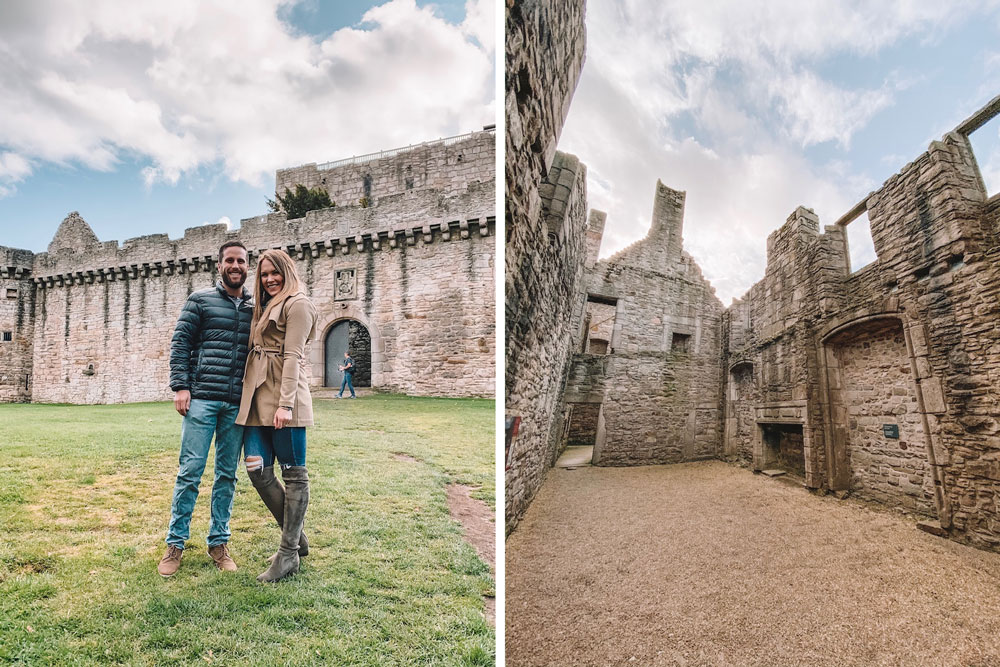 Travel blogger Amanda Martin explores Craigmillar Castle outside of Edinburgh