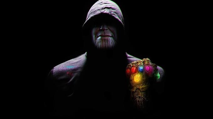 Papel de Parede Thanos com Capa Preta