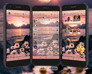 Ocean & Flowers Theme For YOWhatsApp & Fouad WhatsApp By Luna