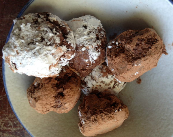 Two Ingredient Vegan & Gluten-free Hot Cocoa Truffles Using Windy City Cocoa Mix