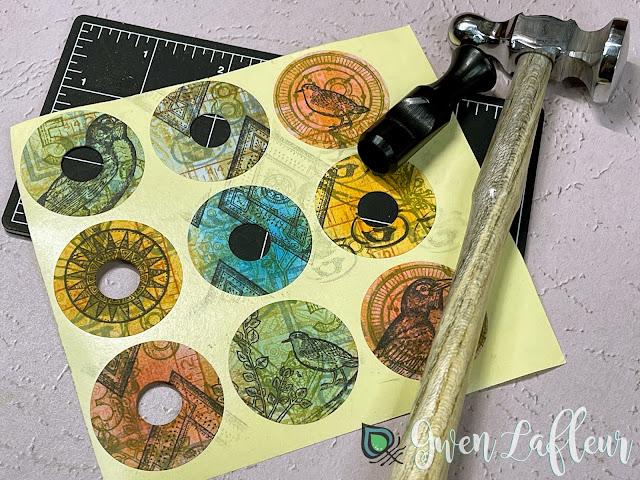 DIY Stamped Stickers Tutorial Step 5 - Gwen Lafleur